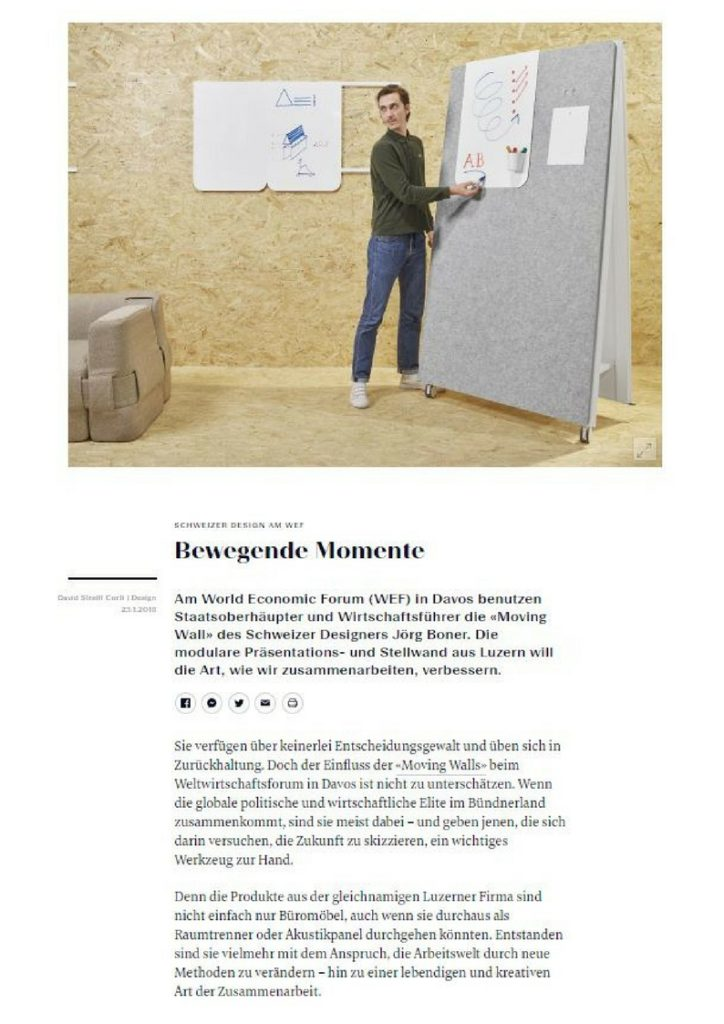Moving Walls in der NZZ Bellevue