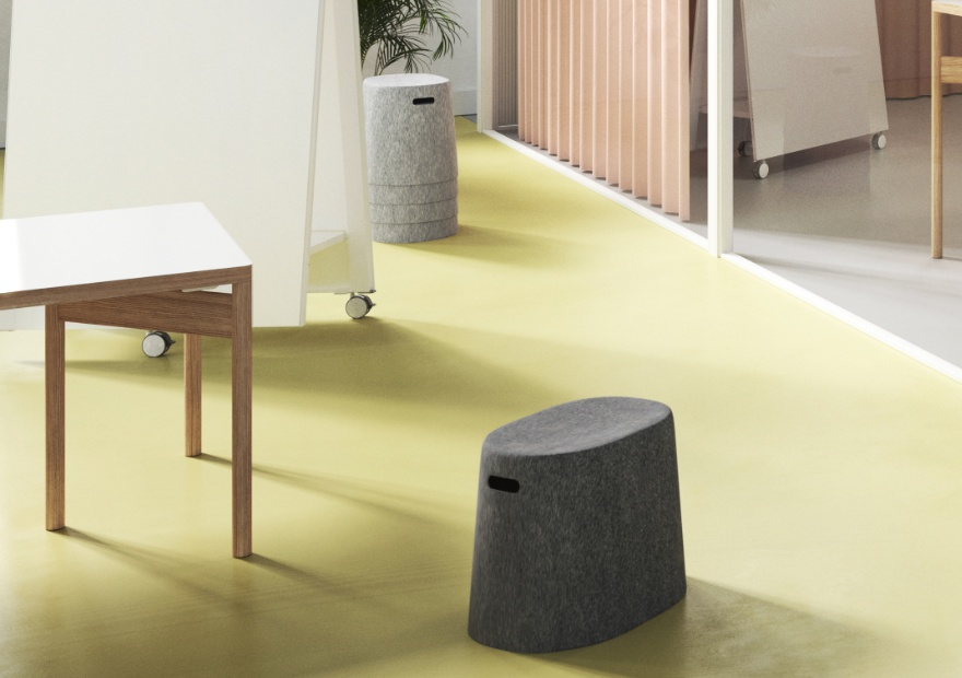 Moving Stool grau und anthrazit mit Moving Wall_1_ 880x620