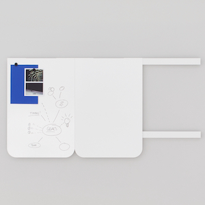 mobiles rahmenloses und magnetisches whiteboard moving panel fuer kreativraeume